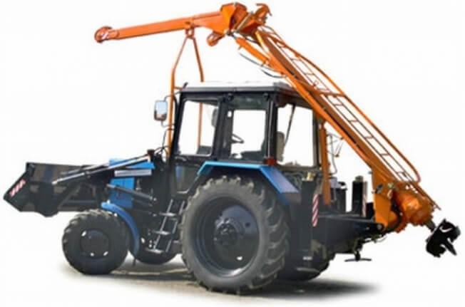 бурильно-крановая машина (ямобур)